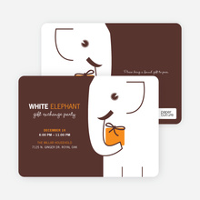 White Elephant on Tiny Prints for White Elephant Parties - Cantaloupe