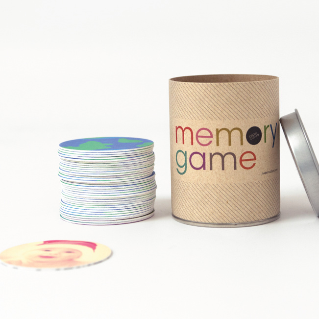 Personalized Memory Game - Blue