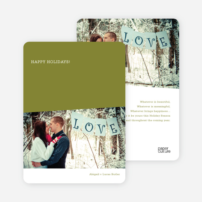 Angles Holiday Photo Cards - Shamrock Green
