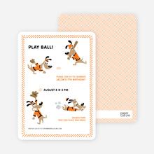 Babe Woof: Baseball Themed Party Invitations - Papaya