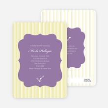 Baby Pin Shower Invitation - Yellow