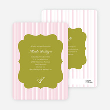 Baby Pin Shower Invitation - Dark Grape