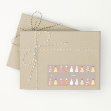 Birthday Hat Gift Tags - Pink