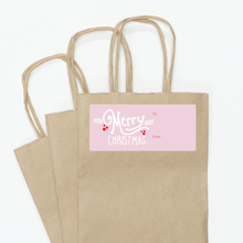 Christmas Script - Pink