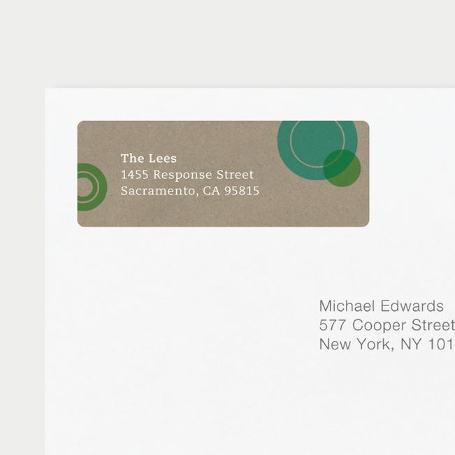 Circles Address Labels - Green