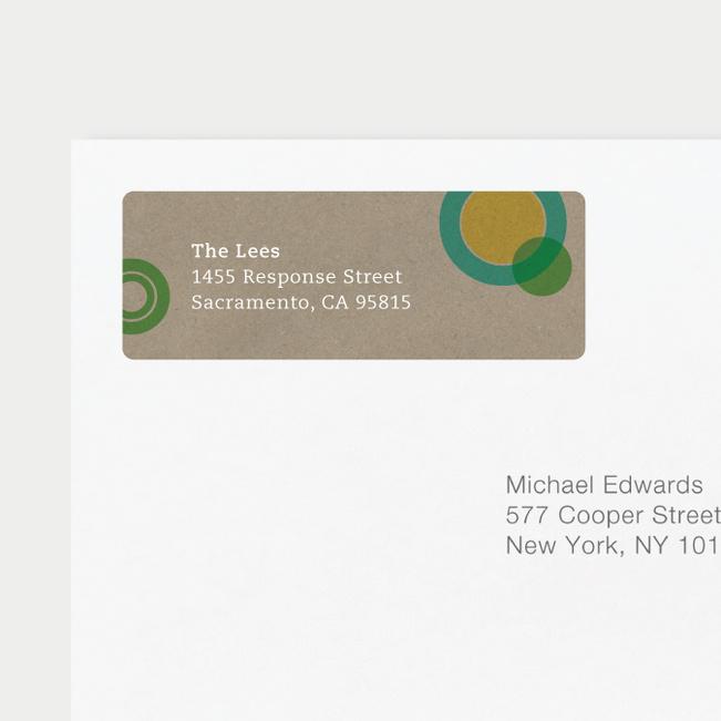 Circles Address Labels - Orange