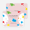 Color Me Birthday Kids Birthday Invitations - Pink Putty