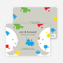 Color Me Birthday Kids Birthday Invitations - Recycled Paper