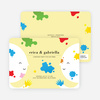 Color Me Birthday Kids Birthday Invitations - Banana Peel