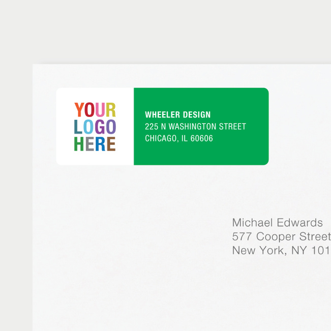 company logo return address labels paper culture