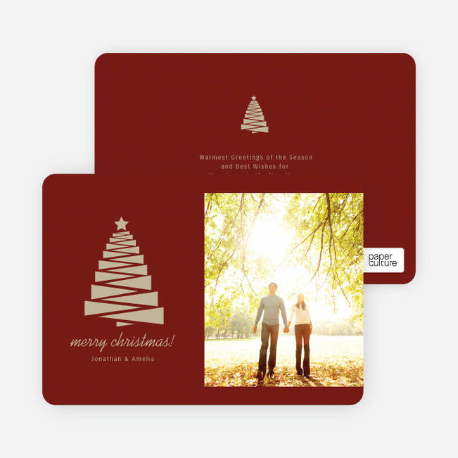 Crafty Christmas Tree Card - Red