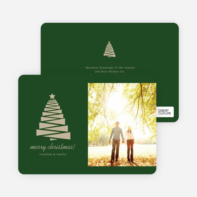 Crafty Christmas Tree Card - Green