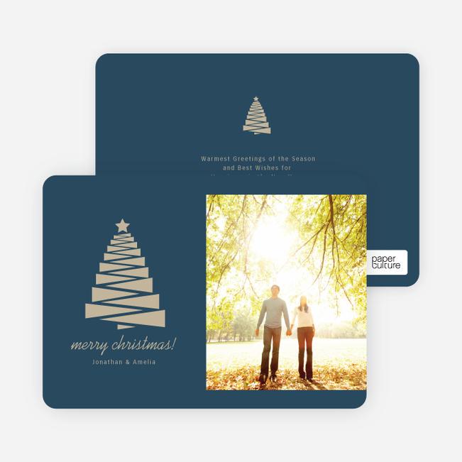 Crafty Christmas Tree Card - Blue