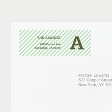 Diagonal Stripe Labels - Green