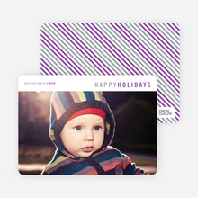 Diagonal Stripes Holiday Cards - Gray