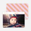 Diagonal Stripes Holiday Cards - Orange