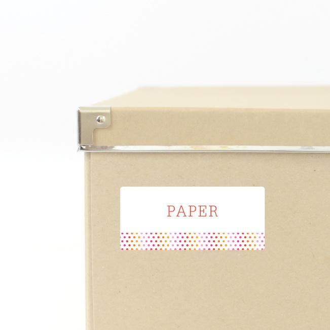 Dot Pattern Storage Labels - Pink