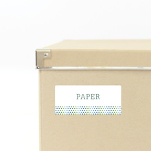 Dot Pattern Storage Labels - Green