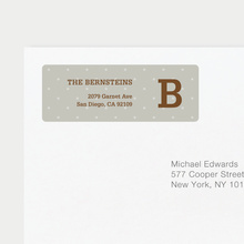 Eco Friendly Dot Pattern Return Address Labels - Brown