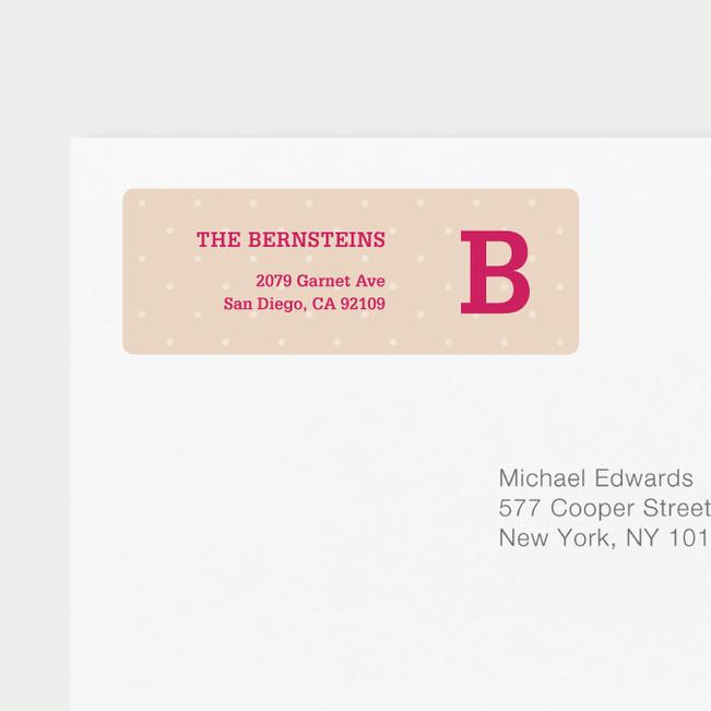 Eco Friendly Dot Pattern Return Address Labels - Pink