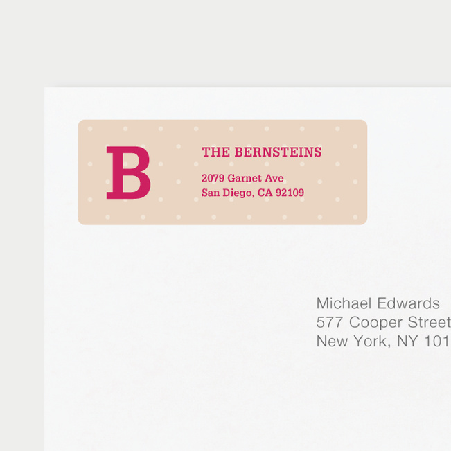 Eco Friendly Dot Pattern Return Address Labels - Pink