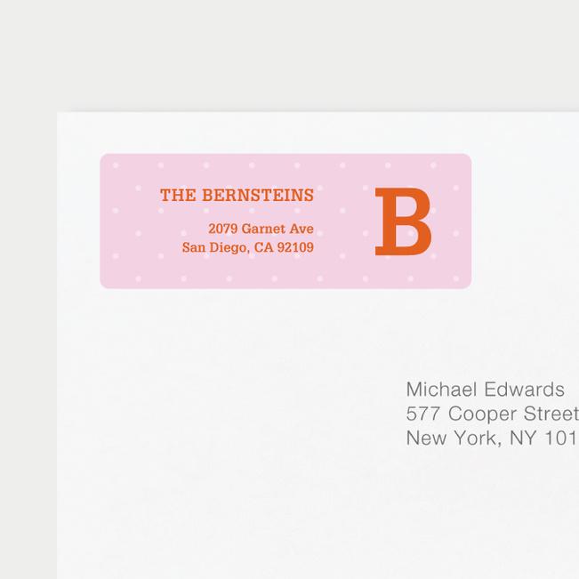 Eco Friendly Dot Pattern Return Address Labels - Orange