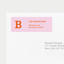 Eco Friendly Dot Pattern Return Address Labels - Orange