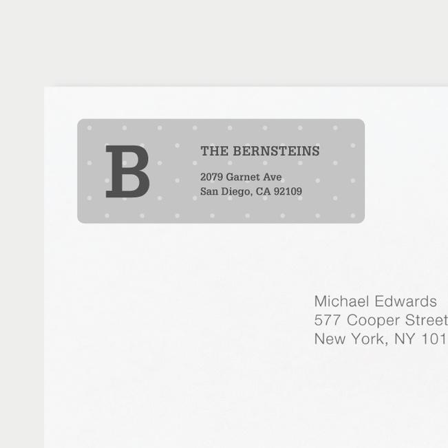Eco Friendly Dot Pattern Return Address Labels - Blue