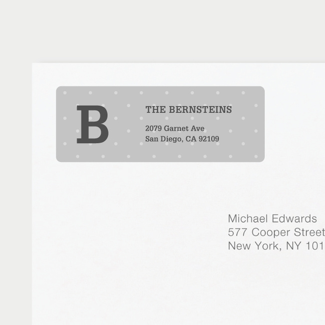 Eco Friendly Dot Pattern Return Address Labels - Blue