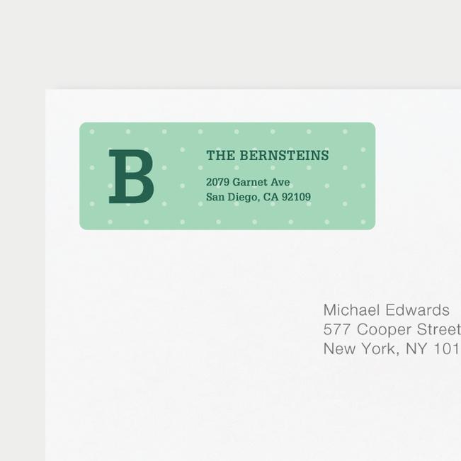 Eco Friendly Dot Pattern Return Address Labels - Green