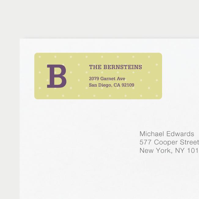 Eco Friendly Dot Pattern Return Address Labels - Purple