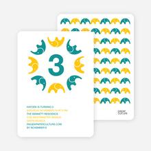 Elephant Kaleidoscope - Turquoise