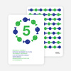 Fish Kaleidoscope Modern Birthday Invitation - Kelly Green