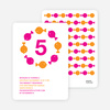 Fish Kaleidoscope Modern Birthday Invitation - Bright Orange