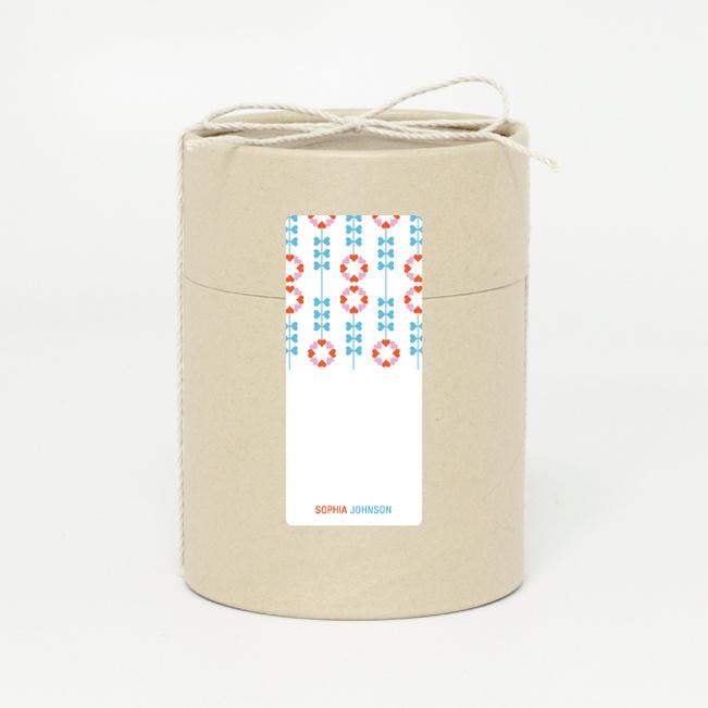 Flower Heart Gift Tags - Blue