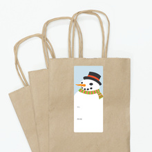 Frosty the Snowman Gift Tags - Blue