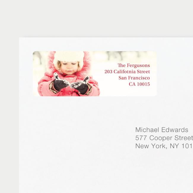 Full Photo Label Custom Address Labels - Red