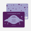 Galaxy Spaceship Modern Birthday Invitation - Violet
