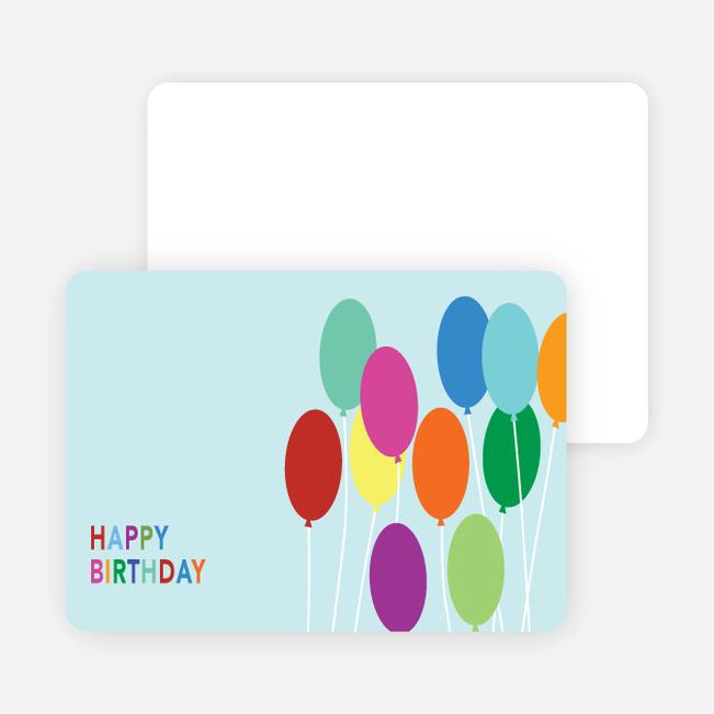 Happy Birthday Balloon Stickers - Blue