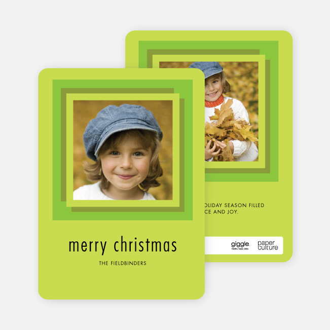 Hip to Be Square Holiday Cards - Green
