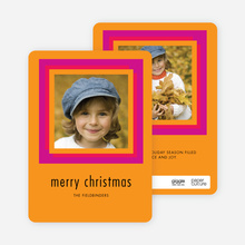Hip to Be Square Holiday Cards - Orange