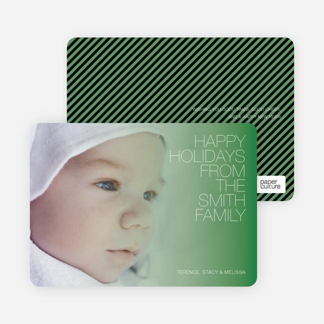 Holiday Memories Photo Cards - Asparagus Green