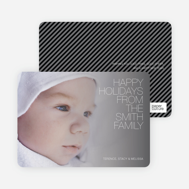 Holiday Memories Photo Cards - Grey