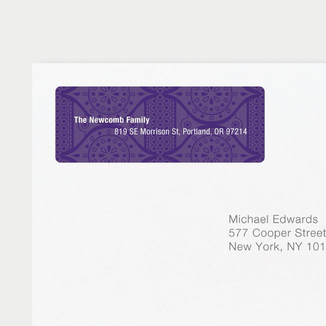 Ice Caps Address Labels - Purple
