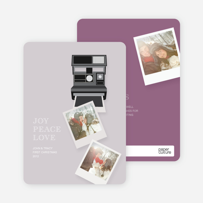 Holiday Cards: Instant Photo Memories - Purple