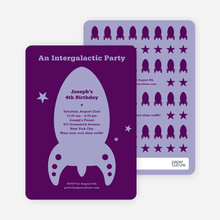 Intergalactic Modern Birthday Invitation - Grape