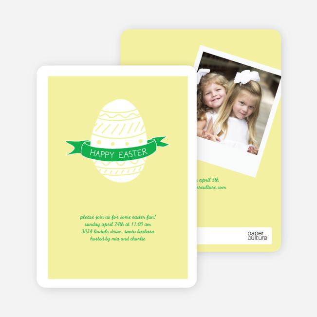 It's No Faberge Egg, It's a Paper Culture Egg - Lemon Drop