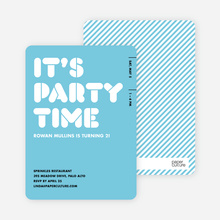 It's Party Time - Baby Blue