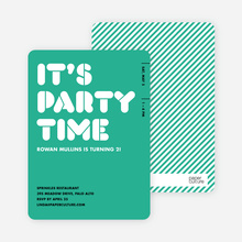 It's Party Time Invitation - Jade