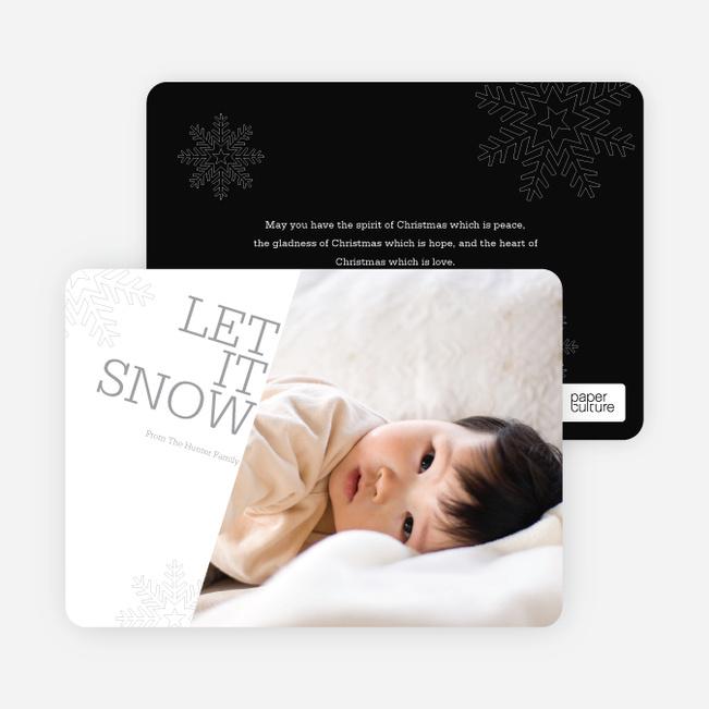 Let It Snow Let It Snow Let It Snow - Black
